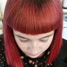 """DesignHouse Salon Fernwood on Instagram: """"Hair By Emerald ・・・ This gem rocks coloured hair on the regular, whatever we feel inspired to do. Last colour was pink, it faded and we…"""" Coloured Hair, Gem, Emerald, Salons, Hair Color, Bangs, Colored Hair, Lounges, Haircolor"""