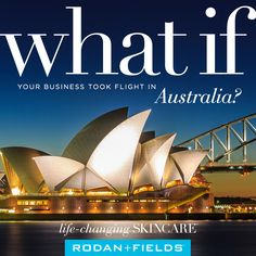Rodan + Fields is coming to Australia.  Want to take part on this amazing opportunity? Want to become a Rodan and Fields Consultant? Message me. Visit website  http://www.savychicskin.com