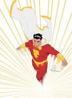 Captain Marvel by Joey Vazquez Original Captain Marvel, Captain Marvel Shazam, Captain Marvel Costume, Marvel Dc Comics, Marvel Gif, Ms Marvel, Dc Comics Heroes, Dc Comics Characters, Dc Comics Art