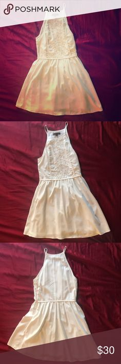 Kendall & Kylie White Dress Kendall & Kylie brand white dress. Worn a few times but doesn't fit me anymore. Kendall & Kylie Dresses