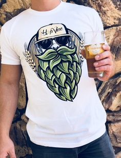 Beard Designs, Shirt Designs, Style Masculin, Festival Shirts, Beer Shirts, Summer Shirts, Front Design, Printed Shirts, T Shirt