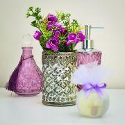Vaso de Vidro Envelhecido Prateado | Formosinha Decorações