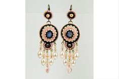 Bead Embroidered Earrings by SerafinaExclusive on Etsy, €50.37