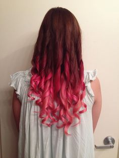 Pink Ombre with Manic Panic Red Passion& Cotton Candy Pink.