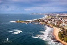 Illawarra coastline from above, Wollongong, New South Wales, Australia