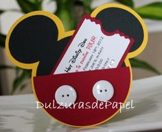 MADETO ORDER AS PER CONVO: Mickey Mouse invitations for your special little one! These invitations are so beautiful they will make