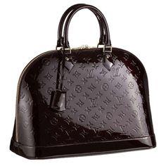 Louis Vuitton Monogram Vernis Alma MM Bag