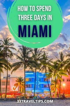 If you've never been to the Sunshine City, we highly recommend spending at least 3 days in Miami. To help you plan your getaway, we've prepared the perfect itinerary. | Things to Do in Miami | Miami in three days | 3 Days in Miami Itinerary | What to Do in Miami Florida Florida Hotels, Visit Florida, Florida Travel, Miami Florida, Usa Travel Map, Usa Travel Guide, Travel Guides, Canada Travel, Travel Tips