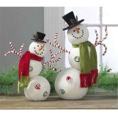 Divertidos muñecos de nieve.