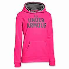 Girls' Under Armour Battle Hoodie | FinishLine.com | Pinkadelic/Grey