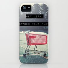 Grocery Cart Rage  iPhone Case by Laura Ruth  - $35.00