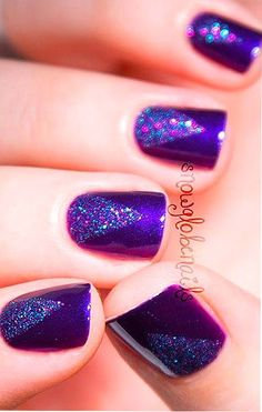 Purple Prism by @snowglobenails in Motives Nail Lacquers(Regal & Confetti)! #Light #Prism #Rainbow
