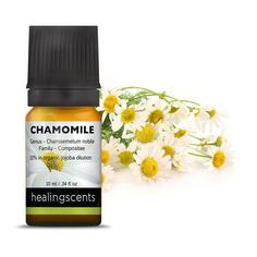 German Chamomile Essential Oil- Calm, Soothing Relief 10 ml bottle Botanical Name: Matricaria recutica Plant Part: flower head Extraction: steam Origin: Hungary