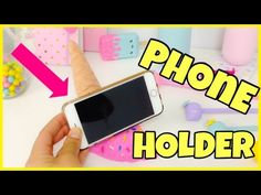 HOW TO MAKE A PHONE HOLDER(Phone stand)ICE CREAM CONE - YouTube