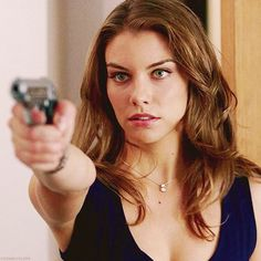 Lauren Cohan, i don't pin much of her, but yeah she's awesome, british, loves dean, and can handle a lethal weapon. Did she die, though. I can't remember, maybe she'll come back.