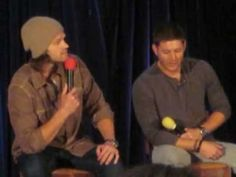Jensen and Jared trying to make Misha Laugh. This is why these men are perfect.