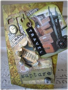 AlteredPages Artsociates: Travel Time Card