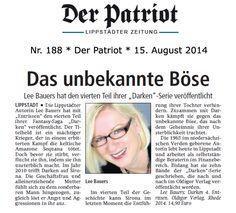 Presseartikel Lee Bauers und DARKEN IV vom 15. August 2014...