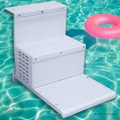 Swimming pool ladder and ladder on pinterest - Above ground pool steps for handicap ...
