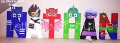 Pj Masks Letters Pj Masks Birthday Pj Masks Centerpieces PJ Masks Cake Table Letters PJ Masks Party Letters PJ Masks Catboy Owlette Gekko by LetterTownBoutique on Etsy https://www.etsy.com/listing/471269375/pj-masks-letters-pj-masks-birthday-pj