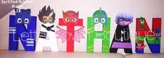 Pj Masks Letters Pj Masks Birthday Pj Masks Centerpieces PJ Masks Cake Table Letters PJ Masks Party Letters PJ Masks Catboy Owlette Gekko by LetterTownBoutique on Etsy https://www.etsy.com/listing/471269375/pj-masks-letters-pj-masks-birthday-pj