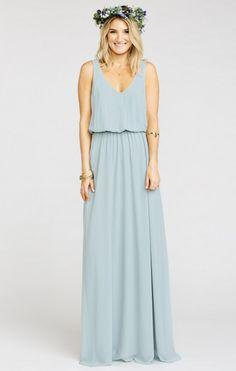 Kendall Maxi Dress ~ Steel Blue Chiffon   Show Me Your MuMu