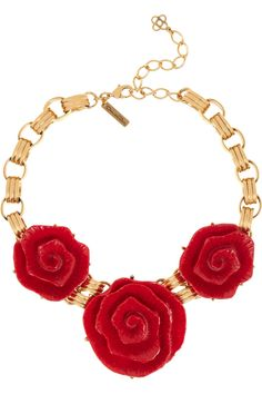 Oscar de la Renta floral necklace (exclusive to @THE OUTNET.COM for their 5th birthday)