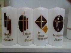 Trauerkerzen Allerheiligen Pillar Candles, Gifts, Gift Ideas, Candles, Christening, Candle, Beautiful Candles, Candle Art, Presents