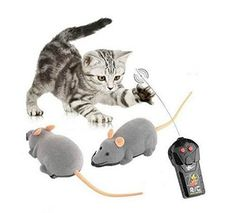 Mini RC Wireless Remote Control Electronic Rat Mouse Mice Toy For Cat Dog Pet (Grey) * Want additional info? Click on the image. (This is an affiliate link and I receive a commission for the sales) #Cats