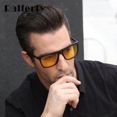 14477371f3 Ralferty Night Vision Glasses Male Anti-glare HD Polarized Sunglasses Men  Women Driving Glasses Yellow