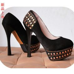 Aliexpress.com : Buy Ultra high heels 14cm velvet platform fashion thick heel single shoes 2013 star doyle from Reliable silver shoes heels suppliers on  NO.119 Woman Store. $35.23