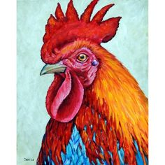 Rooster Art Print of Original Painting by Dottie by DottieDracos