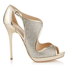 b974e01cb07 Champagne Glitter Fabric and Mirror Leather Sandals Crazy Shoes