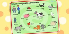 What the Ladybird Heard Word Mat - what the ladybird heard, word mat, themed word mat, pant word mat, story word mat, topic words, key words, topic words