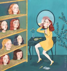 Helena Perez Garcia  Illustrations offer a surprising and dreamy depiction of girls disconnected from reality | Creative Boom