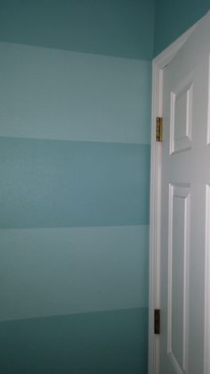 Painted wall stripes, in bathroom