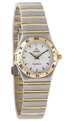 Omega Women's Constellation Quartz Small Two-Tone Watch -- Read more at the image link. (This is an affiliate link) Cool Watches, Rolex Watches, Wrist Watches, Omega Ladies, Watch 2, Constellations, Omega Watch, Quartz, Watch Women