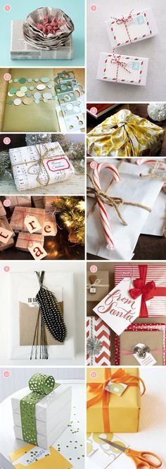Fun ways to wrap presents.  Who doesn't have lots of paint samples hanging around the house?