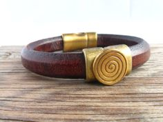 Genuine European Regaliz Leather Bracelet by BearCreekCollection, $45.00