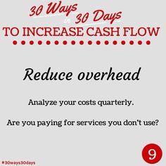 Reduce overhead #30ways30days