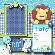 Baby Shower Scrapbook, Baby Scrapbook Pages, Baby Boy Scrapbook, Photo Album Scrapbooking, Scrapbook Designs, Scrapbook Page Layouts, Paper Piecing, Baby Mini Album, Mini Photo Albums