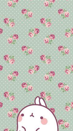Molang roses pink/green