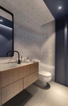 Escolha peças grandes para um banheiro branco