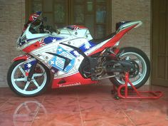 Modifikasi motor Kawasaki Ninja 250 tahun 2010