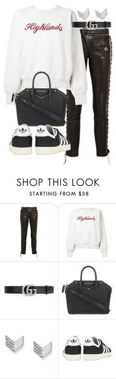 """""""Untitled #20791"""" by florencia95 ❤ liked on Polyvore featuring RVDK, Étoile Isabel Marant, Gucci, Givenchy, FOSSIL and adidas Originals"""