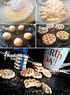 WAFFLE KURABİYE TARİFİ http://kadincatarifler.com/waffle-kurabiye-tarifi