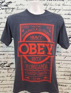 Obey T Shirt Heavy Duty Propaganda Size Medium  #Obey #GraphicTee