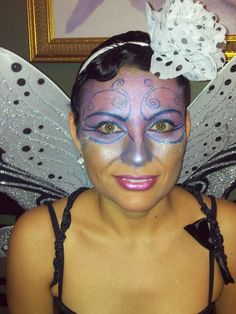 Did it myself with sephora eye liner and other eye shadows Fae Face, Halloween Makeup, Halloween Costumes, Fairy Makeup, Eye Shadows, Eye Liner, Sephora, Pixie, Make Up