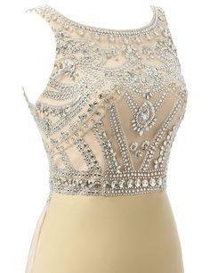 New Style Beaded Long Chiffon Evening Dress,Formal Women