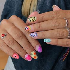 73 Trendy Simple Manicure Nails Ideas For Fall, Try it! Nail Design Stiletto, Nail Design Glitter, Summer Acrylic Nails, Best Acrylic Nails, Hair And Nails, My Nails, Acryl Nails, Funky Nails, Funky Nail Art